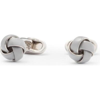 モンアート Mon Art メンズ カフス・カフリンクス Tresse Enamelled Brass Knot Cufflinks Gray