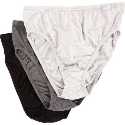 ジョッキー Jockey レディース ショーツのみ 3点セット 大きいサイズ Plus Size Elance French Cut 3-Pack Grey Heather/Charcoal Grey Heather/Black