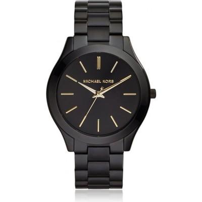 マイケル コース Michael Kors レディース 腕時計 Slim Runway Stainless Steel Watch Black