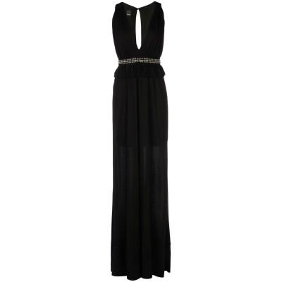 ピンコ PINKO ロングワンピース&ドレス ブラック L 100% レーヨン ポリエステル ロングワンピース&ドレス