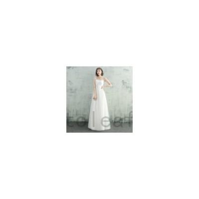 ウェディングドレス二次会花嫁ドレス結婚式ドレスパーティードレスAラインおしゃれカジュアル可愛い大きいサイズxl2xl袖なしナチュラルロングド