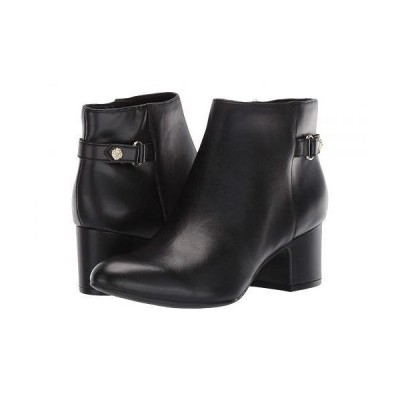 Anne Klein アン クライン レディース 女性用 シューズ 靴 ブーツ アンクルブーツ ショート Hilda - Black Leather
