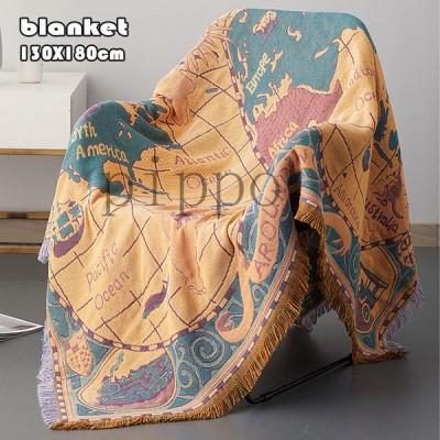 世界地図 ヴィンテージ ブランケット ソファー毛布 掛け布団 タペストリー 家庭用  保暖 冷房対策 清潔