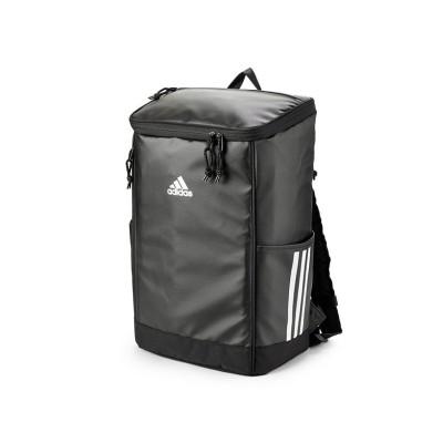 【カバンのセレクション】 アディダス リュック リュックサック 25L スクエア ボックス型 通学 男子 女子 女の子 メンズ レディース adidas 67102 ユニセックス ブラック系1 フリー Bag&Luggage SELECTION