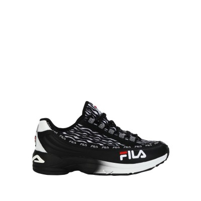FILA スニーカー&テニスシューズ(ローカット) ブラック 40 革 / 紡績繊維 スニーカー&テニスシューズ(ローカット)