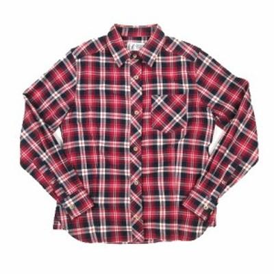 【中古】マーモット MARMOT Terra L/S Shirt テラ 長袖 シャツ ブラウス カットソー チェック ロゴ L 赤 レッド