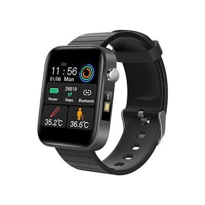 送料無料!GAMERKING Fitness Tracker with Body Temperature Thermometer Heart Rate Monitor,Blood Pressure Monitor, Waterproof IP67 Activi