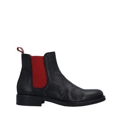GIANFRANCO LATTANZI ショートブーツ ブラック 36 牛革(カーフ) ショートブーツ