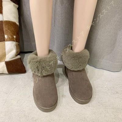シューズ レディース 防寒 冬靴 スノーブーツ スノーシューズ 裏起毛 防水 防滑 可愛い ミドル丈 ふわふわ 疲れにくい ウィンターブーツ おしゃれ 短靴 綿靴