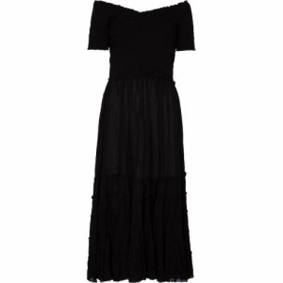 プーペット セント バース Poupette St Barth レディース ワンピース ミドル丈 ワンピース・ドレス Soledad midi dress Plain Black