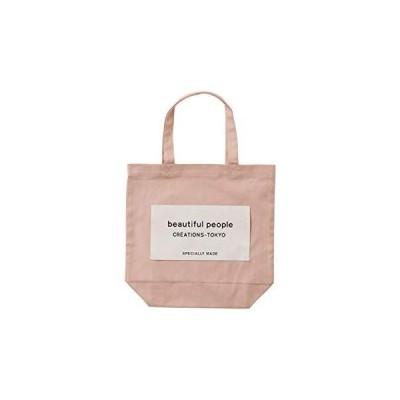 beautiful people ビューティフルピープル直営店限定 ネームトート タグ ロゴ トートバッグ (pinkbeige)