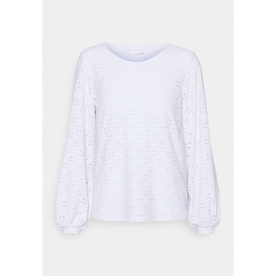 ヴィラ シャツ レディース トップス VITRESSY DETAIL ONECK - Long sleeved top - optical snow