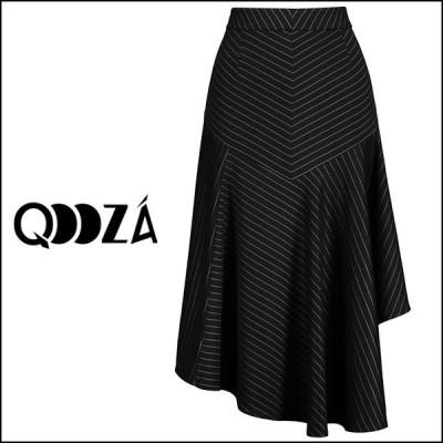 【予約】QOOZA / アシンメトリーストライプゴススカート
