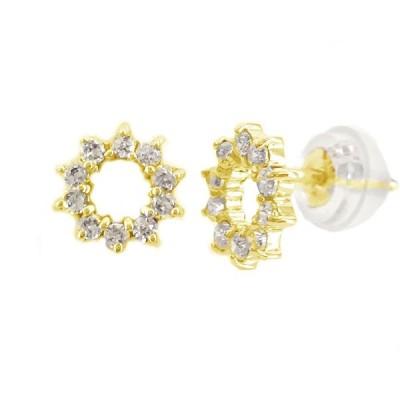 ダイヤモンド ピアス ゴールド K18 ダイヤ 0.25ct K18yg