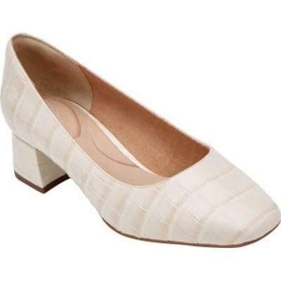 ロックポート レディース ヒール シューズ Women's Rockport Total Motion Esma Plain Pump Off White Croco Leather