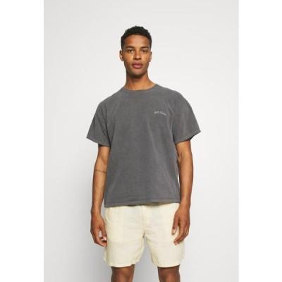 メンズ ファッション LOGO EMBROIDERED TEE UNISEX - Basic T-shirt - washed black