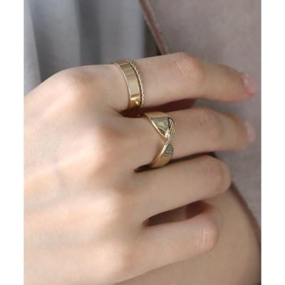 指輪 ひねりラインのボールドリング