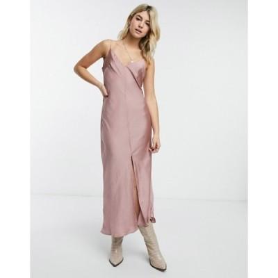 フリーピープル レディース ワンピース トップス Free People smoke & mirrors maxi cami dress in pink