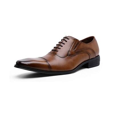 [DESAI] Dolcara ビジネスシューズ 本革 内羽根 紳士靴 メンズ 革靴 24.5-27.5cm(25.0CM ブラウン)