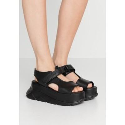 ジョシュア サンダース レディース サンダル シューズ SPICE WEDGE - Platform sandals - black black