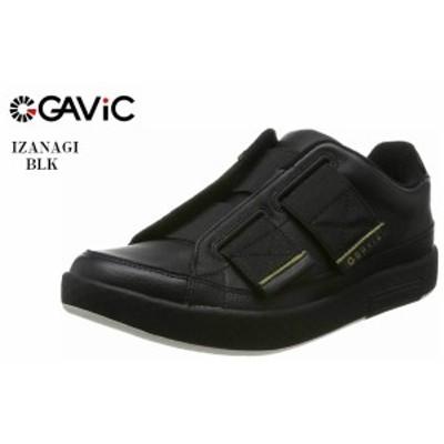GAVIC(ガビック)IZANAGI 1833 レザーカジュアルスリッポンスニーカー ゴムバンドで繋ぎスリッポン仕様に。ベルクロも採用する事でフィッ