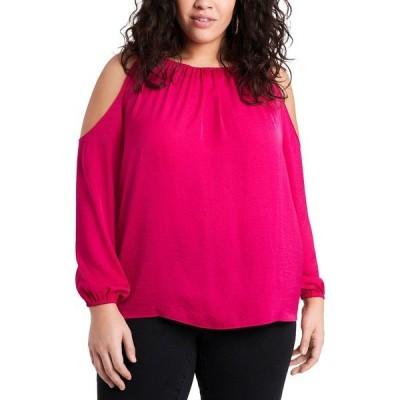 ワンステイト カットソー トップス レディース Trendy Plus Size Cold-Shoulder Top Casbah Pink