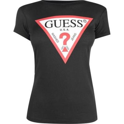 ゲス Guess レディース Tシャツ トップス Tee Black