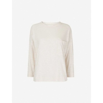 ホイッスルズ WHISTLES レディース 長袖Tシャツ トップス Long-sleeved relaxed-fit cotton T-shirt PALE PINK