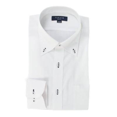形態安定抗菌防臭スリムフィット ボタンダウン長袖ビジネスドレスシャツ/ワイシャツ