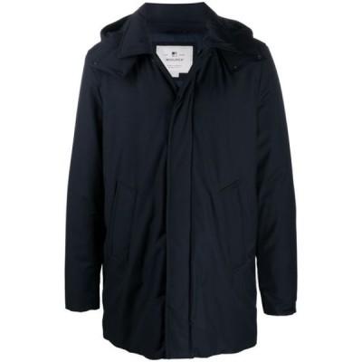 ウールリッチ コート アウター ダッフルコート メンズ Woolrich hooded mid-length parka Blue