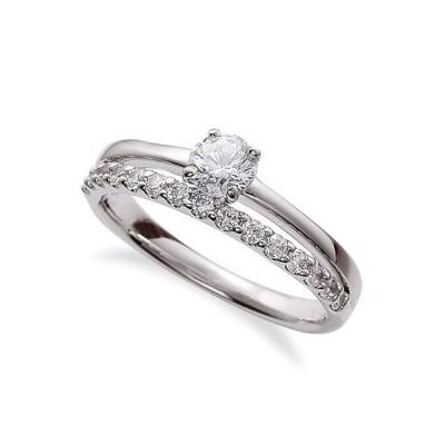指輪 PT900 プラチナ 天然石 サイド一文字リング 主石の直径約3.0mm 割り腕 四本爪留め|900pt 貴金属 ジュエリー レディース メンズ