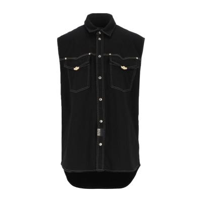 VERSACE JEANS COUTURE デニムシャツ ブラック 46 コットン 98% / ポリウレタン 2% デニムシャツ