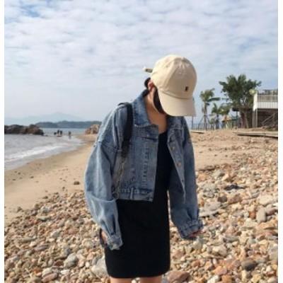デニムジャケット  カジュアル ショート丈 ゆったり カッコいい  Gジャン 2019年秋冬 20代 30代 デニム シンプル  LNWT-62