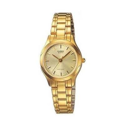 腕時計 カシオ Casio LTP1275G-9A レディース スタンダード アナログ ゴールド トーン ゴールド ダイヤル カジュアル ドレス 腕時計