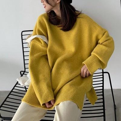 ニット ゆったり セーター レディース 韓国 大きめ オーバーサイズ おしゃれ 長袖^t610^