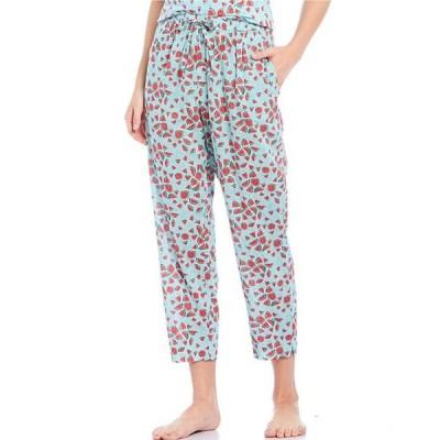 スリープ センス レディース カジュアルパンツ ボトムス Watermelon Print Woven Cropped Sleep Pants