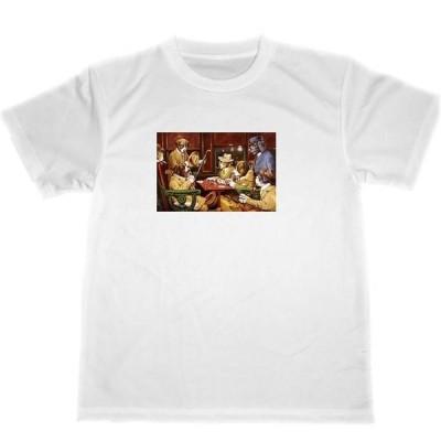 クーリッジ 降車駅と四枚のエース ドライ Tシャツ ポーカー 犬 イラスト グッズ