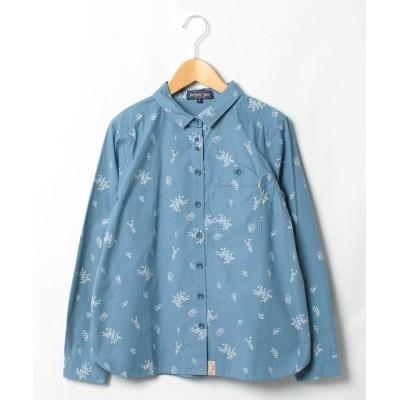 【ノースオブジェクト】 山ポケット付ptシャツ レディース ライト ブルー L north object