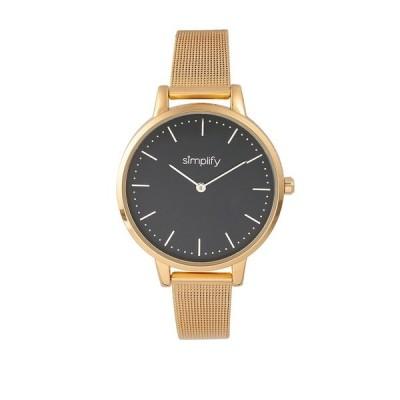 シンプリファイ 腕時計 アクセサリー レディース Quartz The 5800 Black Dial, Gold Alloy Watch 38mm Gold