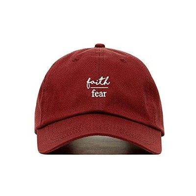 Faith is Greater Than Fear Dad Hat, Embroidered Baseball Cap, 100% Cotton,