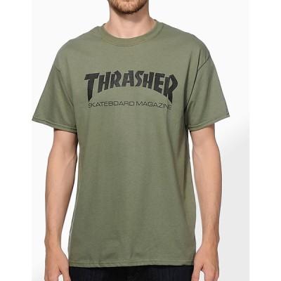 スラッシャー THRASHER メンズ Tシャツ トップス Thrasher Skate Mag Army Green T-Shirt Dark green