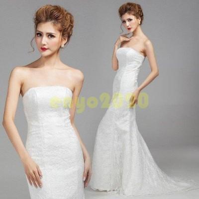 ウェディングドレス ロングドレス 姫系ドレス  aライン 刺繍 イブニングドレス パーティードレス イブニング 二次会 韓国風 撮影用 大きいサイズ