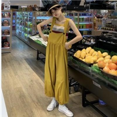 韓国 ファッション レディース 大きいサイズ 大きいサイズ オールインワン サロペット ゆったり オールインワン 春新作 サロペット パン