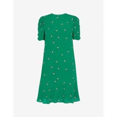 ホイッスルズ WHISTLES レディース ワンピース ワンピース・ドレス Georgina floral-print crepe dress MULTI-COLOURED