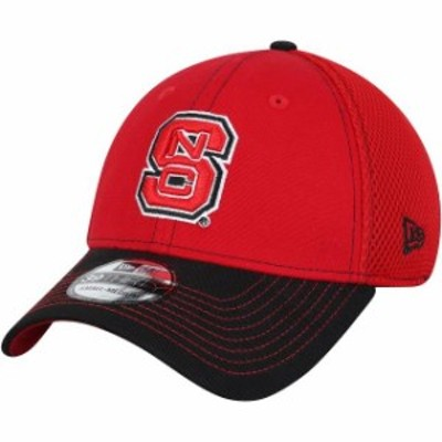 New Era ニュー エラ スポーツ用品  New Era NC State Wolfpack Red/Black Team Front Logo Neo 39THIRTY Flex Hat