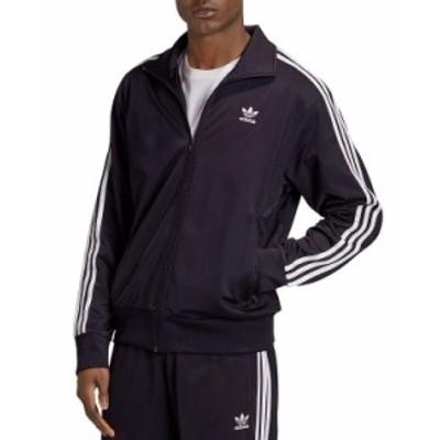 アディダス メンズ ジャケット・ブルゾン アウター adidas Triple Stripe Jacket Black/White