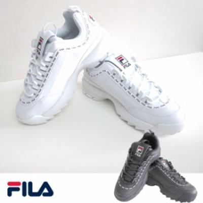 FILA フィラ スニーカー フットウェア フットウエア ダッドスニーカー ダッドシューズ ディスラプター2 ロゴ ユニセックス メン