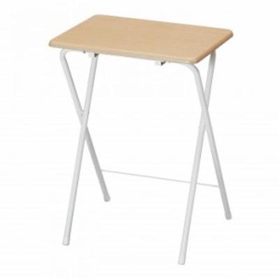 パール金属 フォールディングテーブル ハイ ナチュラルホワイト N-7654