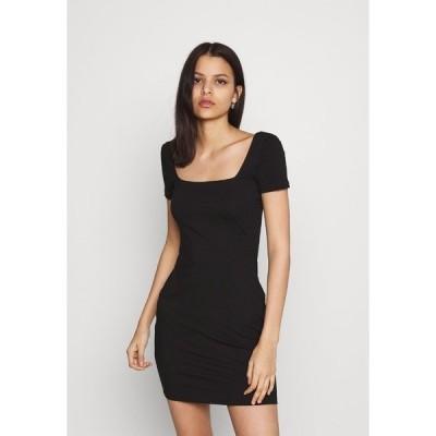 エブンアンドオッド ワンピース レディース トップス Jersey dress - black
