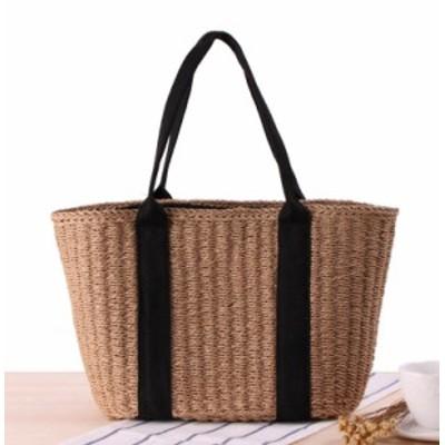 かごバッグ 大容量 ショルダー ハンドバッグ レディース 鞄 カバン スクエア型 大人可愛い カジュアル シンプル ベーシック ナチュラル